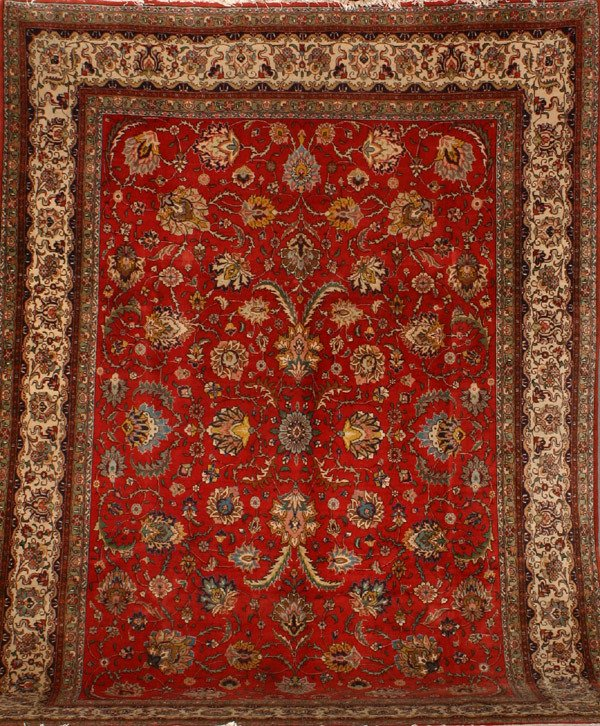 318: Tabriz Rug Post 1950 13 ft 2 in x 9 ft 5 in (401 x