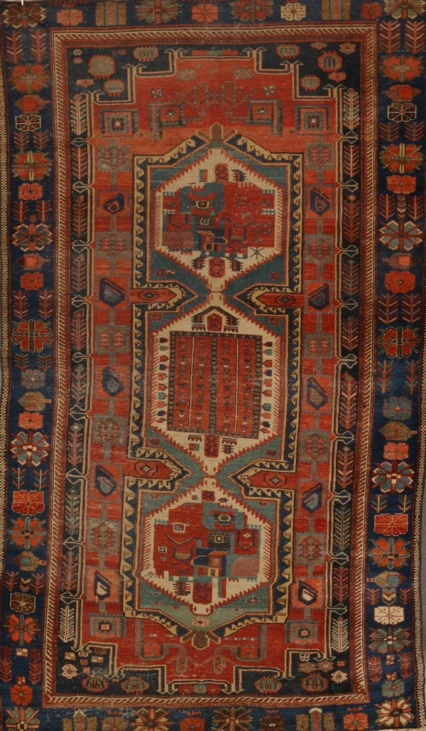 320: Kazak Rug Second Quarter 20th Century 9 ft 8 in x