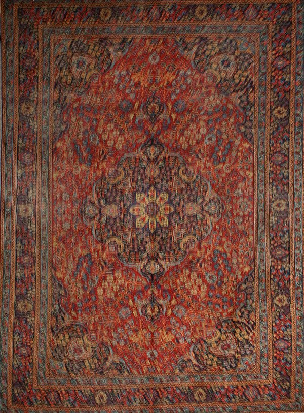 324: Tabriz Rug Circa 1950 10 ft 11 in x 7 ft 10 in (33