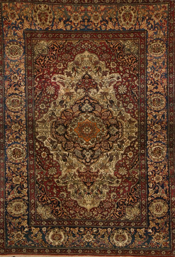 338: Tabriz Rug Circa 1925 7 ft 7 in x 4 ft 7 in (201 x