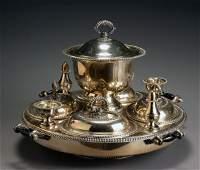 347 English Silver Plate Revolving Supper Dish FE  Co