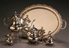 364: German Rococo Style Sterling Four-Piece Coffee & T