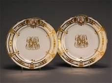 540 Set of Twelve Dresden Portrait Cabinet Plates Deco