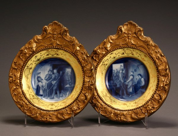 577: Pair of Meissen Pictorial Plates Second Half 19th
