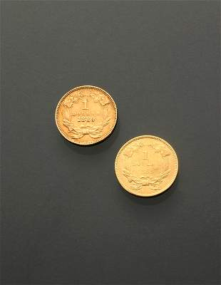 Two U.S. One-Dollar Gold Coins