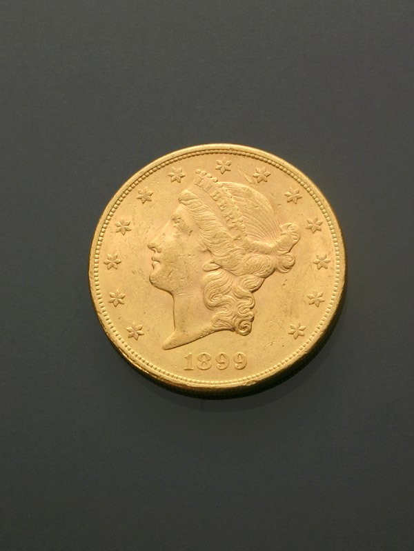 13: U.S. Double Eagle Twenty-Dollar Gold Coin