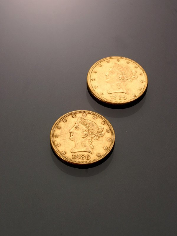 17: Two U.S. Eagle Ten-Dollar Gold Coins