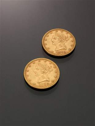 Two U.S. Eagle Ten-Dollar Gold Coins