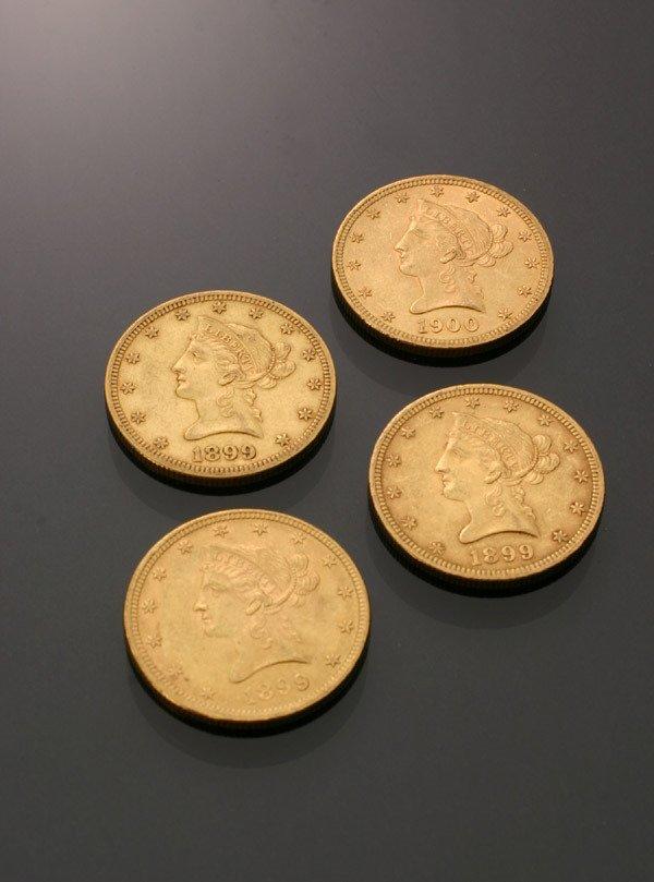 20: Four U.S. Eagle Ten-Dollar Gold Coins