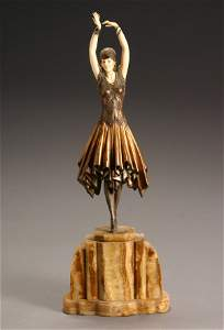 542: Demetre Chiparus (Romanian 1855-1950) Art Deco Dan