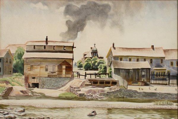 625: Charles Ephraim Burchfield (American 1893-1967), M
