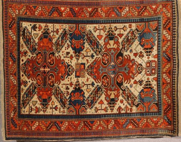 1007: Caucasian Rug Second Quarter 20th Century 3 ft 10