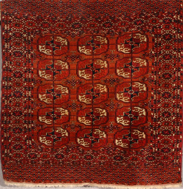 1009: Turkoman Rug Second Quarter 20th Century 3 ft 8 i