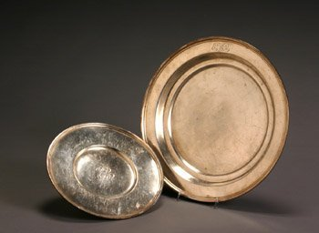 18: S. Kirk & Son, Inc. Sterling Cake Plate & a Dish