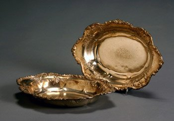 19: Pair of American Sterling Open Vegetable Dishes