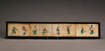 36: Chinese School, 19th Century Ladies and Men: A Grou