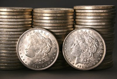 1002: Three Rolls of U.S. Morgan and Peace-Type Silver