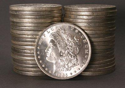 1003: Two Rolls of U.S. Morgan Silver Dollars