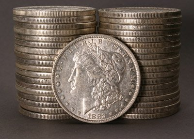 1004: Two Rolls of U.S. Morgan Silver Dollars