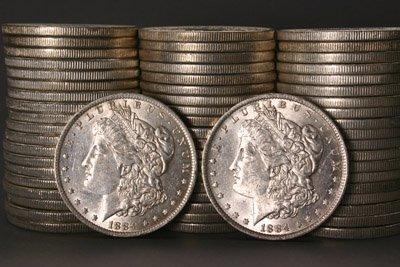 1007: Three Rolls of U.S. Morgan Silver Dollars