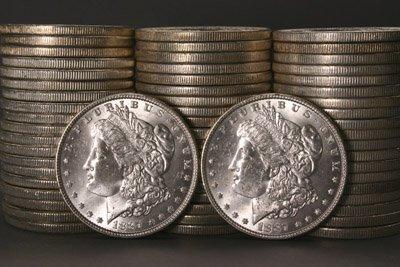 1008: Three Rolls of U.S. Morgan Silver Dollars