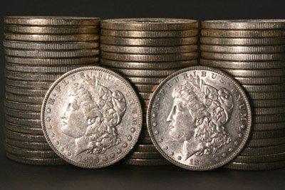 1009: Three Rolls of U.S. Morgan Silver Dollars