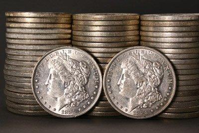 1014: Three Rolls of U.S. Morgan Silver Dollars