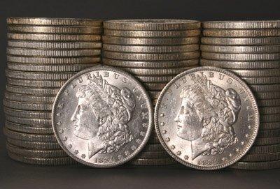 1015: Three Rolls of U.S. Morgan Silver Dollars