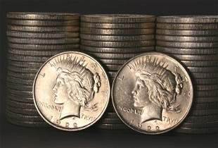 1016: Three Rolls of Peace-Type Silver Dollars