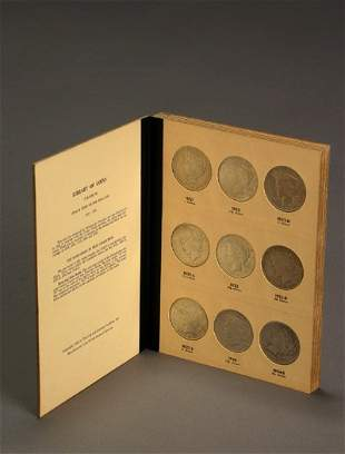 1022: One Album of U.S. Peace-Type Silver Dollars, 1921