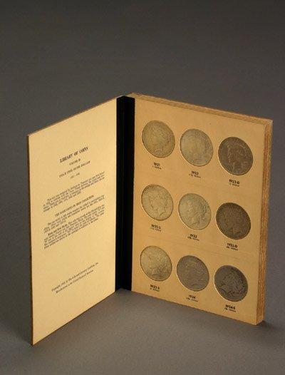 1022: One Album of U.S. Peace-Type Silver Dollars, 1921