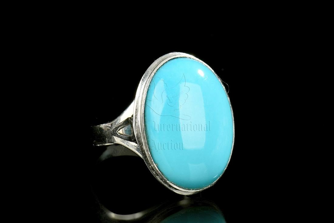 TURQUOISE RING WITH CERTIFICATE