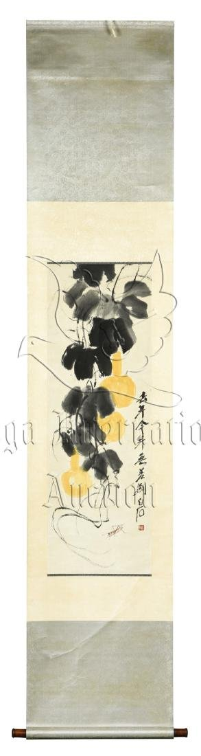 QI BAISHI: INK AND COLOR ON PAPER PAINTING 'GOURD'