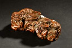 JINSINAN WOOD CARVED PAPER WEIGHT
