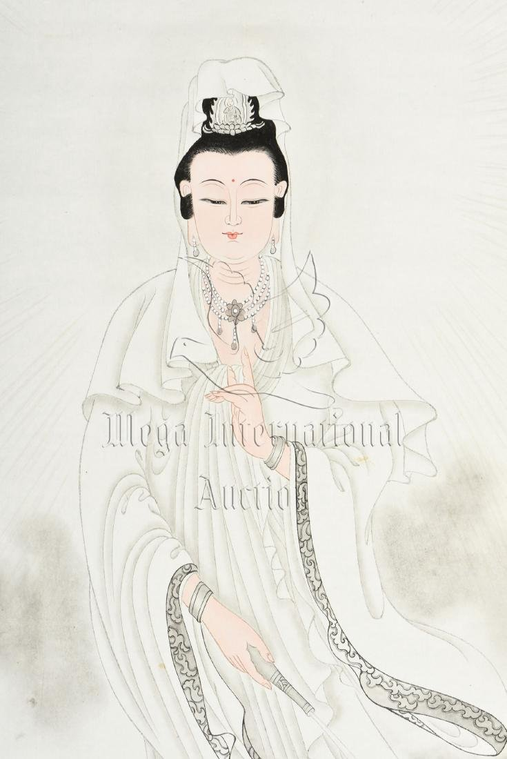 BAI JIAO: INK AND COLOR ON PAPER PAINTING 'GUANYIN' - 3