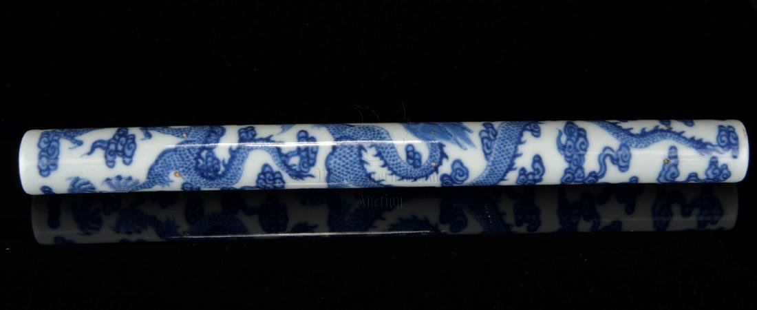 BLUE AND WHITE 'DRAGON' PIPE - 6
