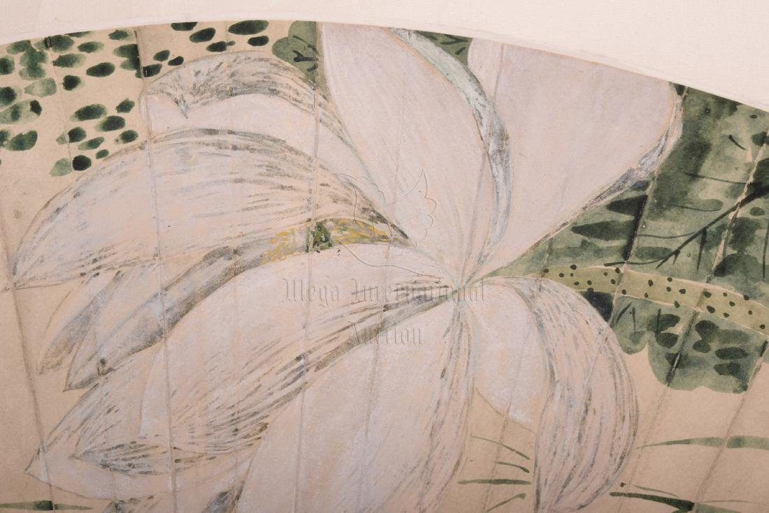 XIE ZHILIU: INK AND COLOR ON FAN LEAF PAINTING - 2