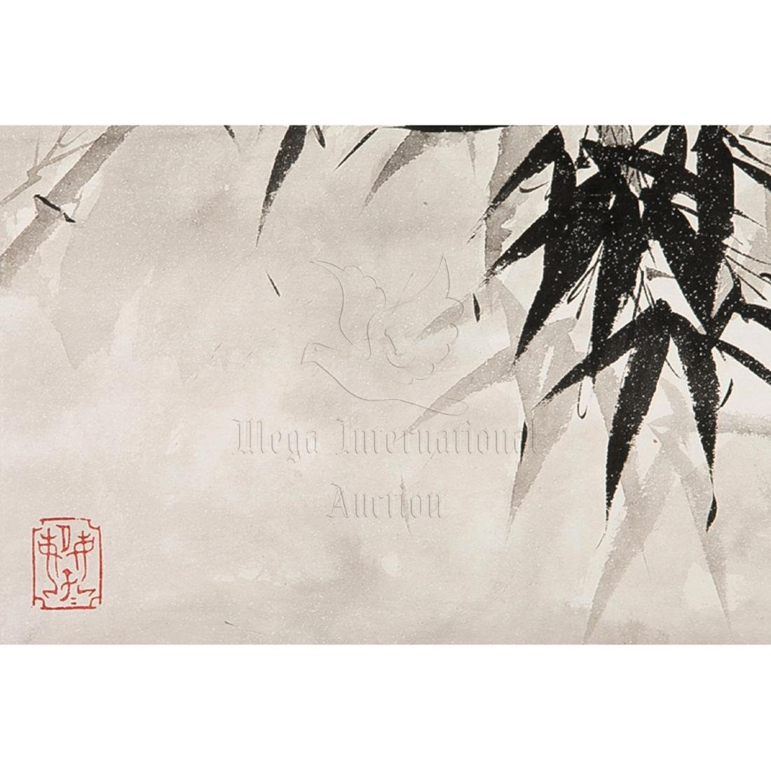 XIE ZHILIU: INK AND COLOR ON PAPER PAINTING 'BIRDS AND - 4