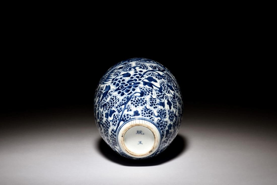 BLUE AND WHITE 'PHOENIX' VASE - 6