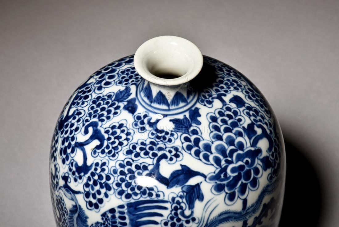BLUE AND WHITE 'PHOENIX' VASE - 9