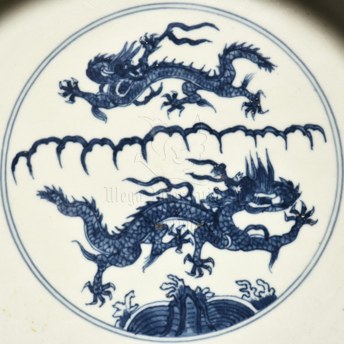 BLUE AND WHITE 'DRAGON' WASHER WITH HANDLES - 6