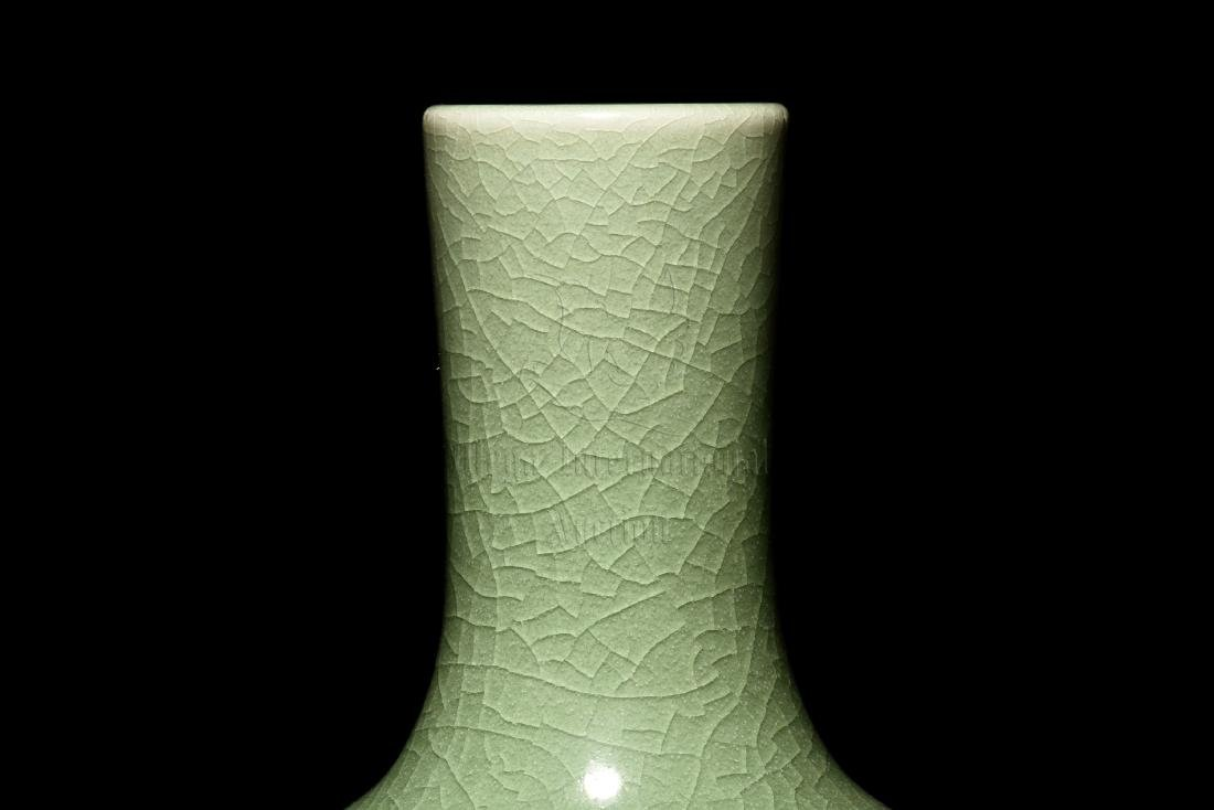 CELADON GLAZED AND IMPRESSED VASE - 4