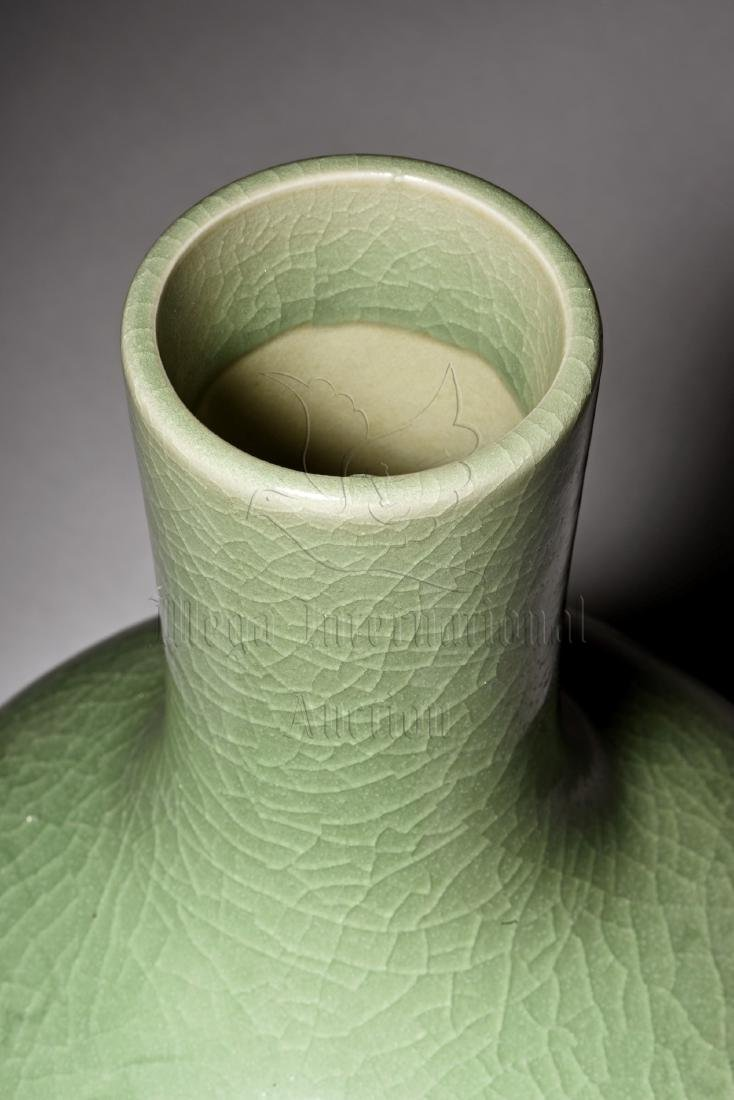 CELADON GLAZED AND IMPRESSED VASE - 7