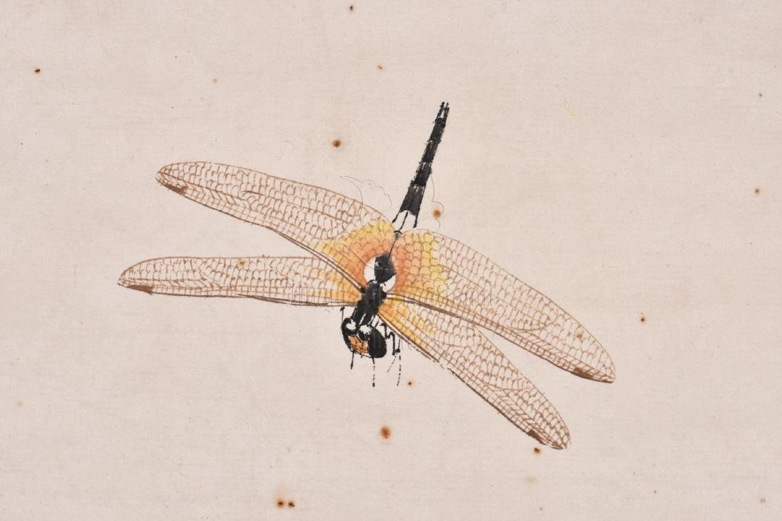 INK AND COLOR ON PAPER 'INSECTS' PAINTING - 4