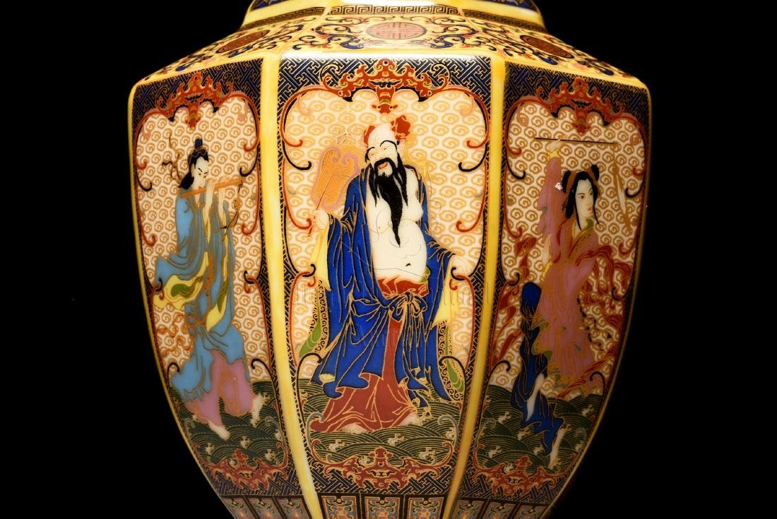 FAMILLE ROSE 'EIGHT IMMORTALS' VASE - 3