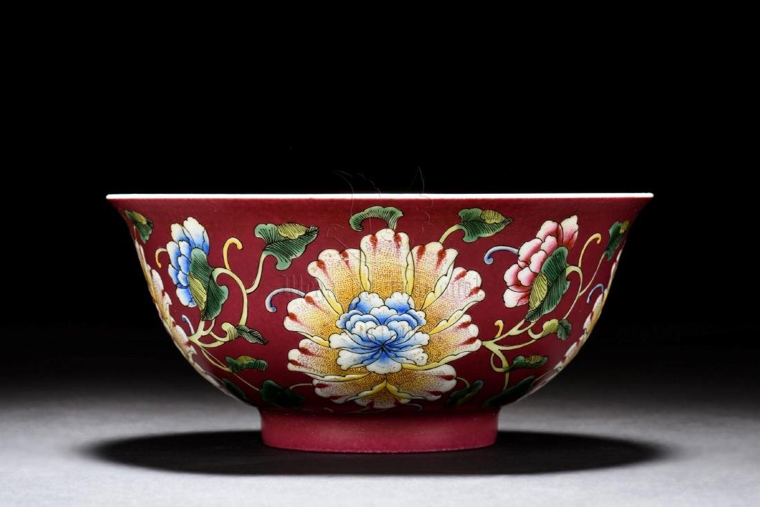 FAMILLE ROSE 'FLOWERS' BOWL - 2