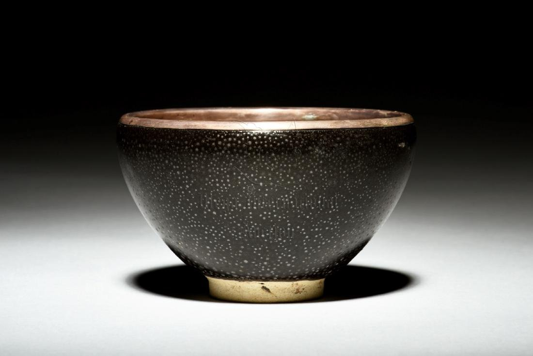 BLACK GLAZED 'OIL DRIP' BOWL - 2