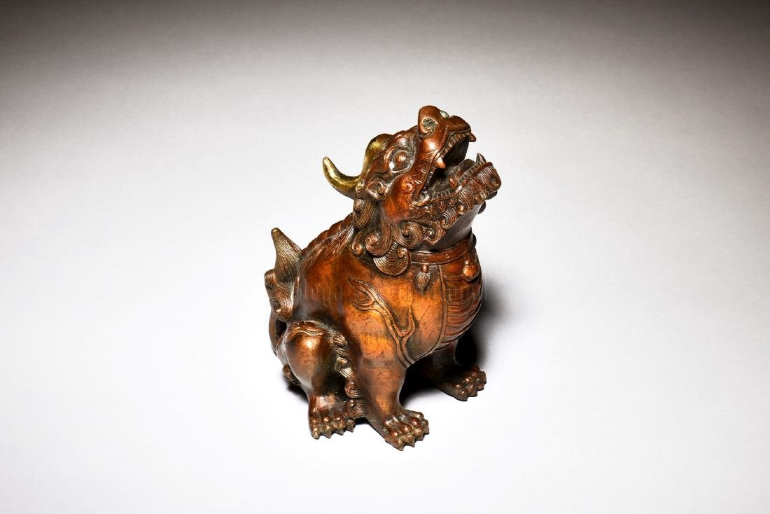 BRONZE CAST 'MYTHICAL BEAST' FIGURE