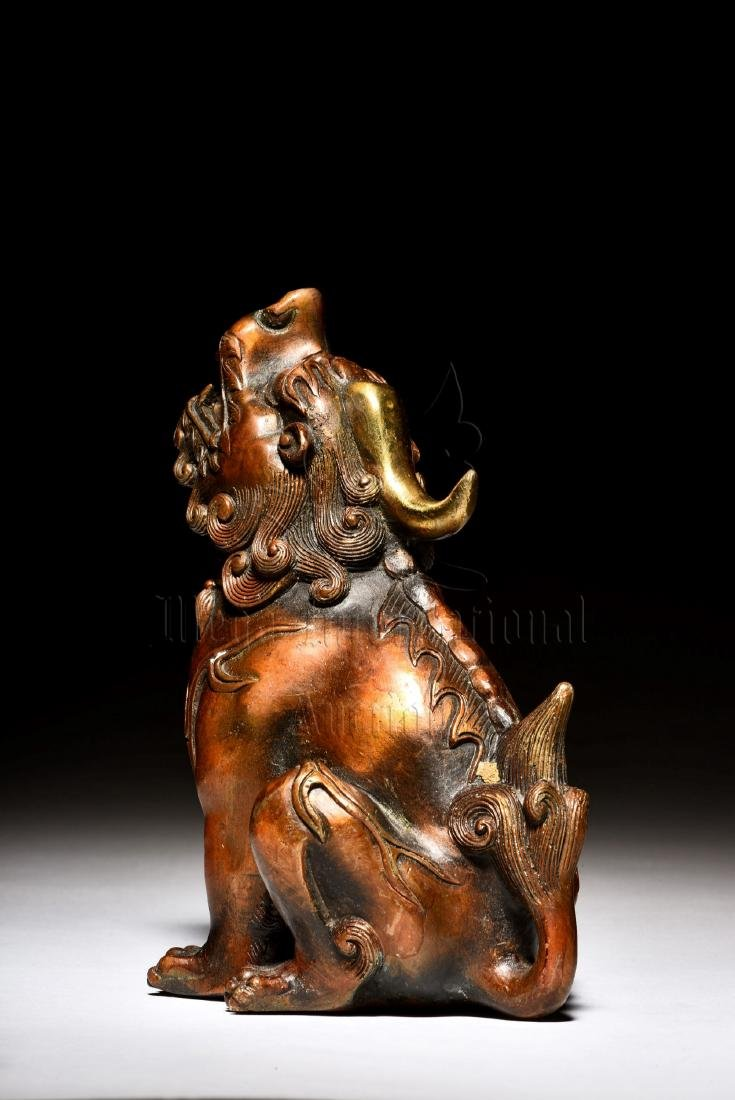 BRONZE CAST 'MYTHICAL BEAST' FIGURE - 2