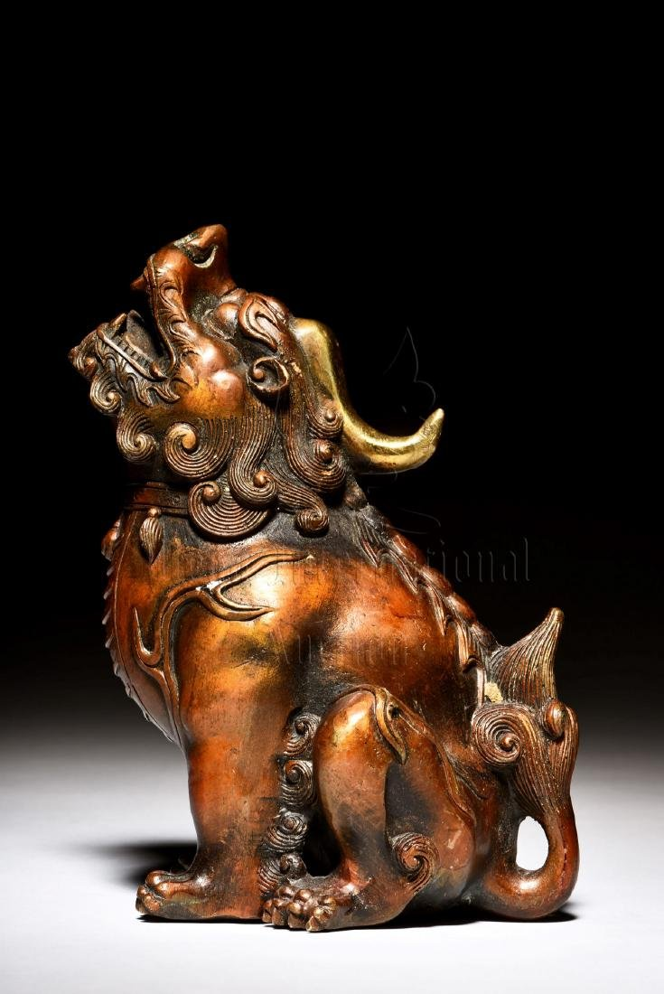BRONZE CAST 'MYTHICAL BEAST' FIGURE - 5